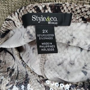 Style & Co Tops - Snake Print Top